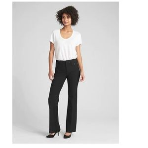 NWT Gap High Rise Baby Boot Trousers 6 Black c649